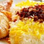 Cooked Rice with Barberries and Chicken